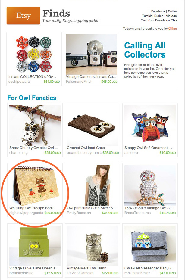 etsy newsletter