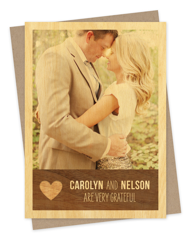 Rustic Heart Photo Thank You Card ‹ Thank You Cards ‹ Wedding ...