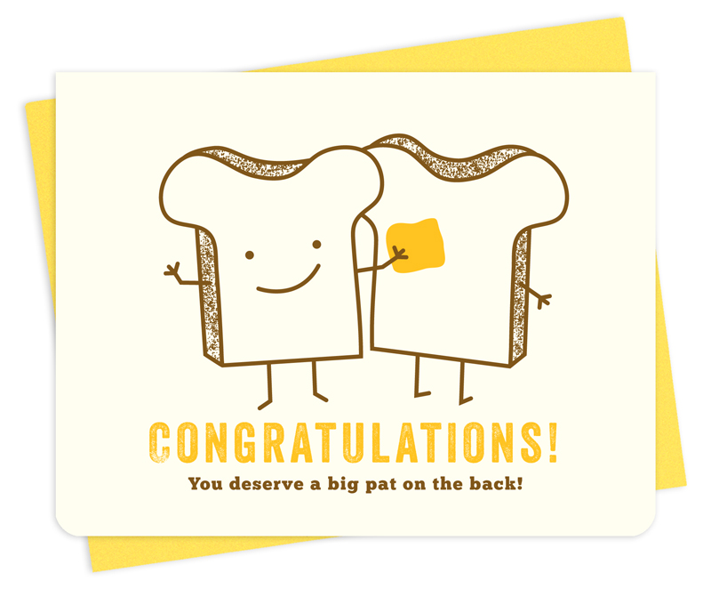pat of butter congratulations cards night owl paper goods