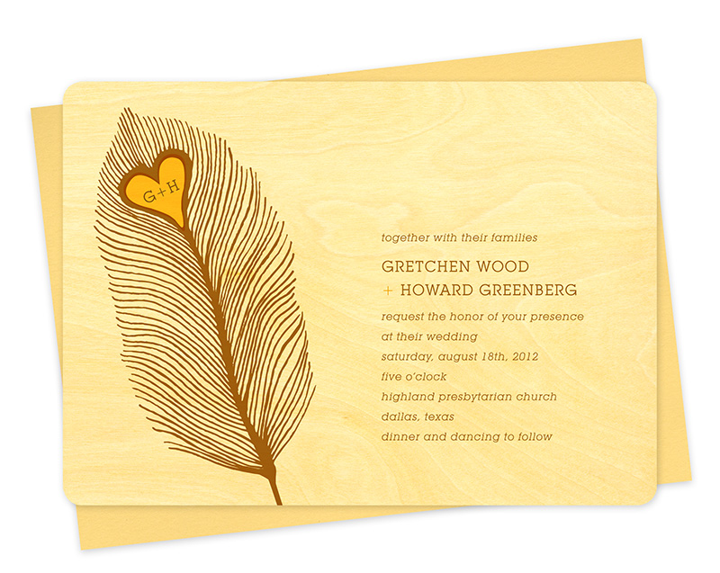 Heart Images For Wedding Invitations: Heart Feather Invitation ‹ Wedding « Night Owl Paper Goods
