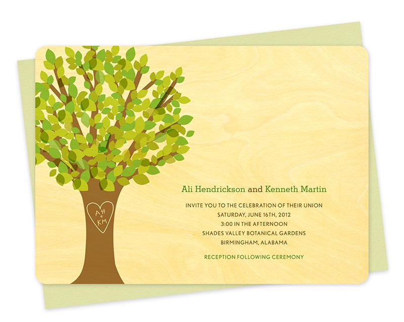 Leafy Tree Invitation ‹ Wedding « Night Owl Paper Goods — Stationery ...