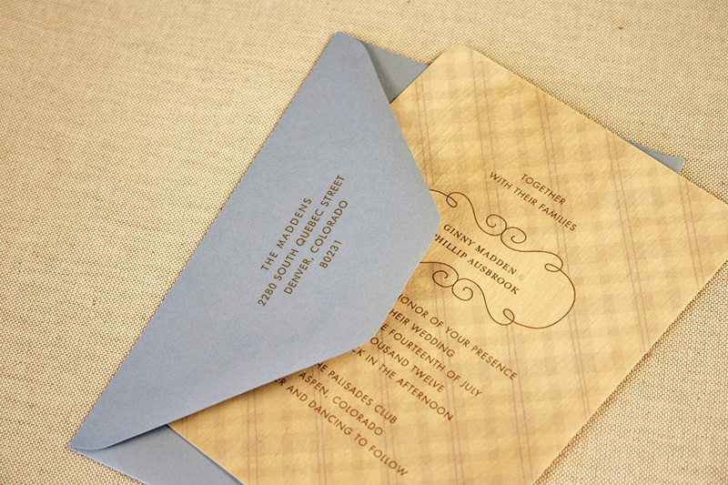 Wedding Sample Pack invitation letterpress envelope Wedding Sample Pack