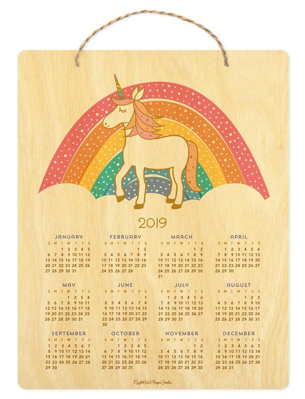 2019 unicorn hanging calendar  u2039 2019 calendars  u2039 gifts