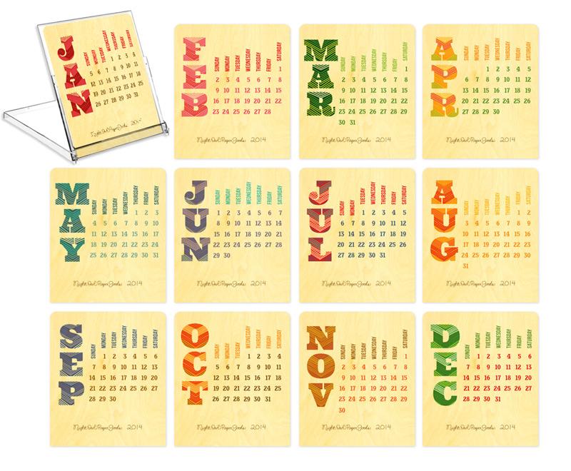 2014 2015 Desk Calendar 800 x 660