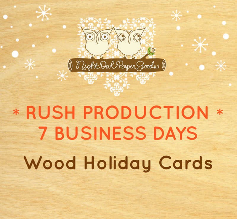 Rush Production - Wood Holiday Cards - 7 Business Days ‹ Custom ...