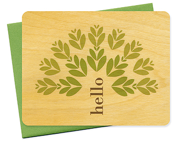 Eco-friendly sustainably harvested yellow birch cards