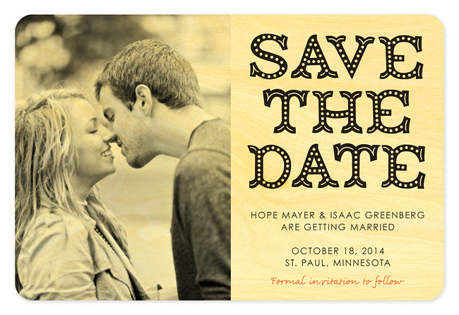 Big Top Save the Date