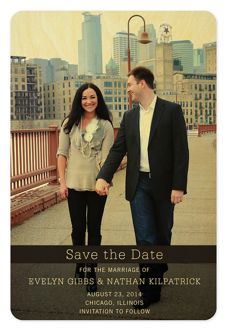 Colorful Overprint Save the Date