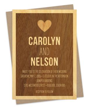 wedding « night owl paper goods — stationery & wood goods, Wedding invitations