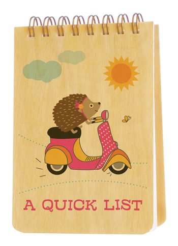 Scootin' Hedgehog � jotter