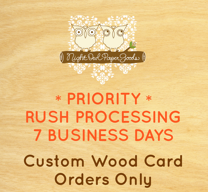 Priority Rush Processing for Custom Card Orders (7 Business Days)