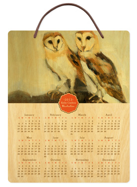 Modern Medallion � 2013 Birch Hanging Calendar