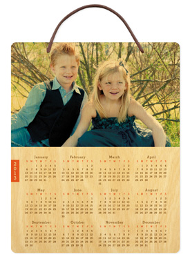 Red Tab � 2013 Birch Hanging Calendar