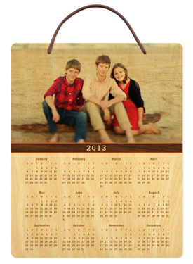 Walnut Bar � 2013 Birch Hanging Calendar