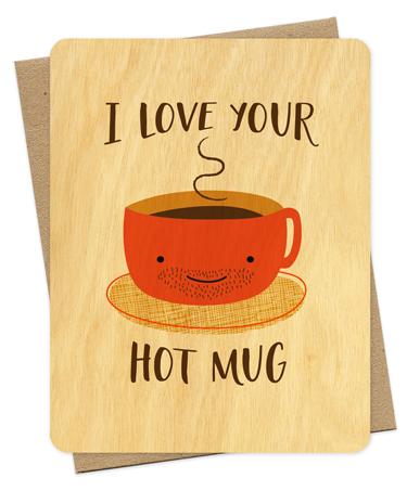 Wood Love Card #mug