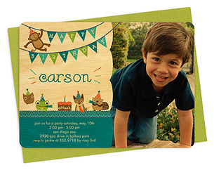 critter party celadon party invitation