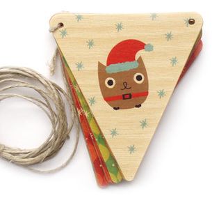 Santa Owl Holiday Banner
