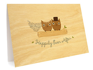 Mr & Mrs Hoot Folded Paper Thank You Card