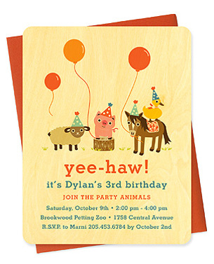 yee haw kid's party